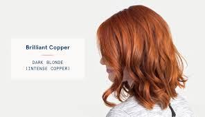 dark blonde intense copper hair color