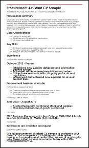 Gallery Of Procurement Assistant Cv Sample Myperfectcv Cvs Resume