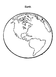 Small Picture Coloring Page Of Earth Earth Template Printable Coloring Pictures
