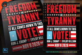 Political Event Flyer Freedom Or Tyranny Political Flyer And Poster Template