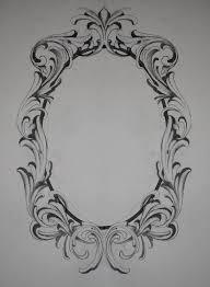 filigree frame tattoo