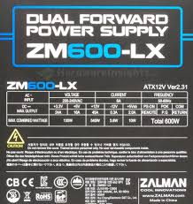 <b>Zalman</b> ZM600-<b>LX</b> – dual forward power supply   Hardware Insights