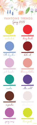 Die Spring Color Chart Spring 2018 Pantone Colors Chart Erika Firm