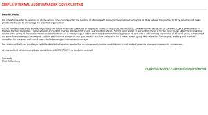 internal audit manager cover letter auditing manager cover letter