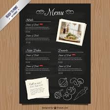 Cmyk Restaurant Menu Template Vector Free Download