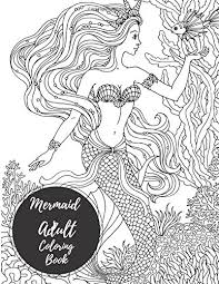 Coloring pages from the coloring for grown ups activity book. Mermaid Coloring Pages And Books For Adults And Children