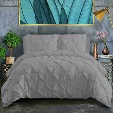 pintuck bedding duvet cover 100 cotton