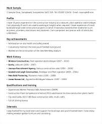 Resume Of Construction Worker Cover Letter For Construction Worker