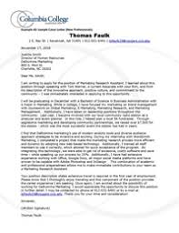 A Sample Cover Letter Cover Prospecting And Thank You Letters Columbia College