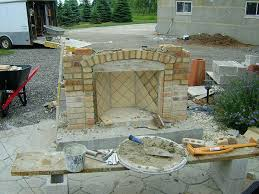 building outdoor fireplace unfinished outdoor fireplace outdoor brick fireplace with pizza oven