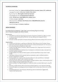 Qa Automation Engineer Resume Sample Ceciliaekici Com