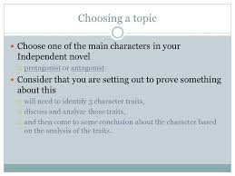 essay writing character analysis choosing a topic choose one of  2 choosing a topic