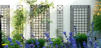 exclusive metal wall trellises in a