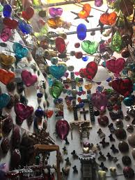 mexican glass hearts in san miguel