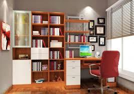 computer desk bookshelf