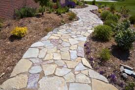 to build a stone sidewalk or garden path