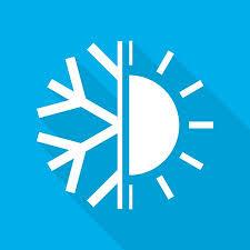 Sonne Und Schneeflockensymbol Der Klimaanlage. Vektor-Illustration. Heiße  Und Kalte Ikone. Lizenzfrei Nutzbare Vektorgrafiken, Clip Arts,  Illustrationen. Image 84404843.