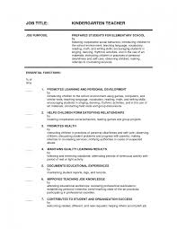 Sample Resume For Kindergarten Teacher Kindergarten Teacher Resume Samples Sevte 9