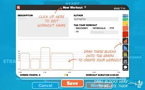 creating custom workouts is quick and easy