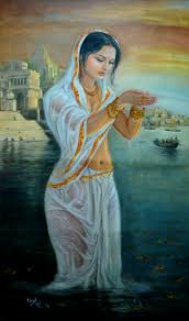 beauty worship is together in this painting created by artist vishalandra