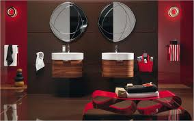 Dark Red Bathroom Red And Black Bathroom Sets White Top Brown Wooden Vanity Black