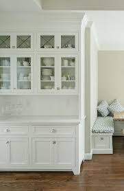 built in kitchen hutch with glass doors