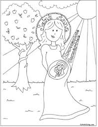 Small Picture Immaculate Conception Coloring Sheet