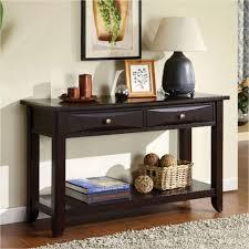 furniture of america baldwin espresso storage console table