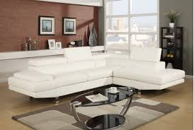 Modern sectional sofas White Leather Compact Modern Sectional Sofa Home Stratosphere 75 Modern Sectional Sofas For Small Spaces 2019