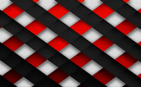 Red Black and White
