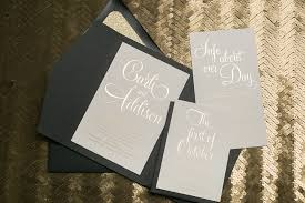 T REAL WEDDING Carli And Addison  Black Tie Pocket Folder Wedding  Invitations With Gold Foil