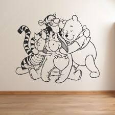 Nursery Winnie The Pooh Bedroom Quote Vinyl Art Decal Baby Decor Disney Room