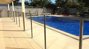 semi frameless pool fence