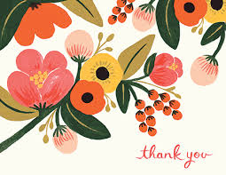 Thank you card images Wedding Thank Hand Painted Garden Thank You Card Postable Send Thank You Cards Postable