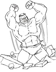Disegno Di Hulk Possente Da Colorare Disegni Da Colorare E