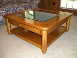 Coffee Table Top Glass Square Oak Coffee Table With Glass Top Glass Tables
