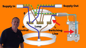 3 plate loop in method connections explained for wiring a domestic Loop Lighting Diagram 3 plate loop in method connections explained for wiring a domestic lighting circuit