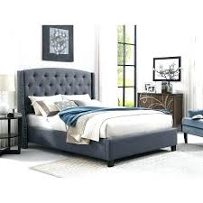 Tufted Bed Nail Head Upholstered With Grey Nailhead Frame