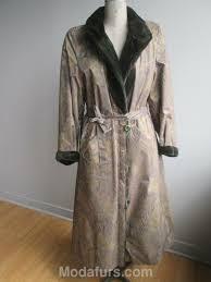 details about women s sz 10 new reversible raincoat real mink fur coat
