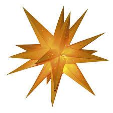 Weihnachtsdekoration Stern Weihnachten Gelb Led Beleuchtung ø 42 Cm Batteriebetrieben 18 Spitzen Mit Timerfunktion Für Innen Und Außen Weihnachtsstern