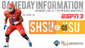 Kennesaw State Football Seating Chart Bearkat Gameday Info Vs Kennesaw State Sam Houston State