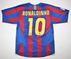 2005-06 FC BARCELONA *RONALDINHO* SHIRT M Football / Soccer \ European  Clubs \ Spanish Clubs \ FC Barcelona