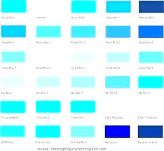 Shades Of Color Blue Chart Teal And Turquoise Color Ketepeng