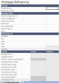 Mortgage Refinance Calculator Excel Refinance Mortgage Calculator Excel Template