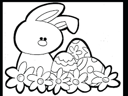 Picture Of Easter Bunny To Color Free Printable Colouring Pages