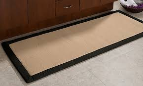 oversized memory foam and fleece 24 x60 bath mat