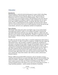 relationship between civil conflict and econ development sample  relationship between econ development and education sample essay