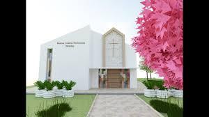 Front Church Design Babadag Penthecostal Church Front Elevation 3d Design Artlantis Renders