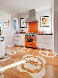 Yellow Kitchen Floor Vintage Yellow Kitchen Design With Interesting Black And White