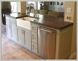 ... Rustic Kitchen Island With Sink And Dishwasher Home Design Ideas